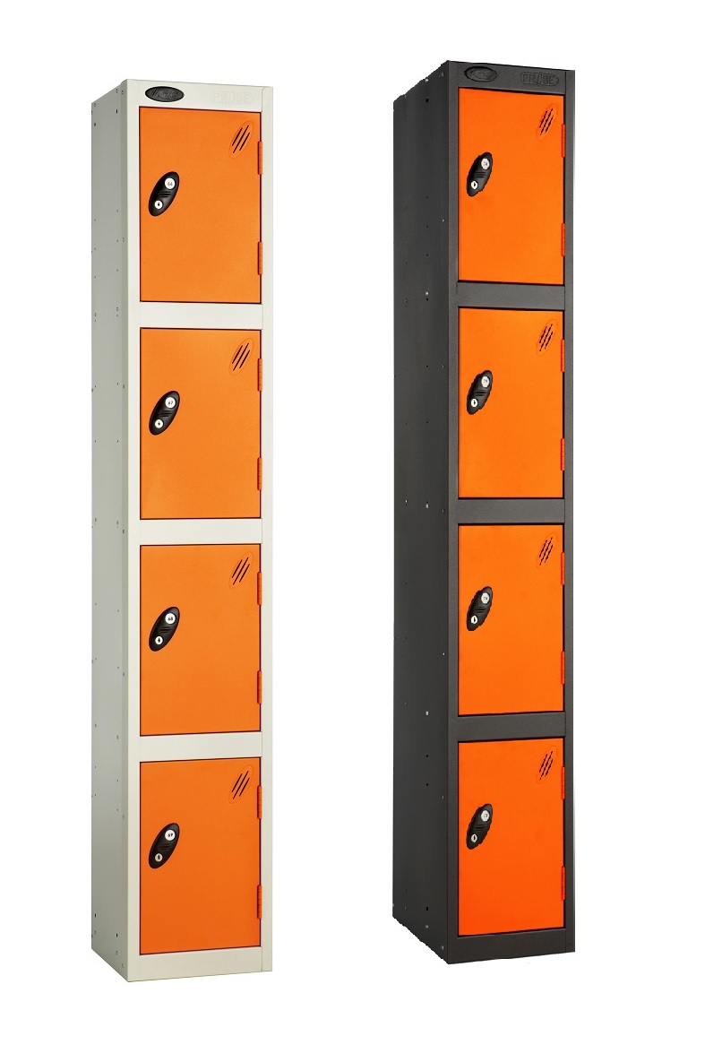 Colour Range Four Compartments Locker