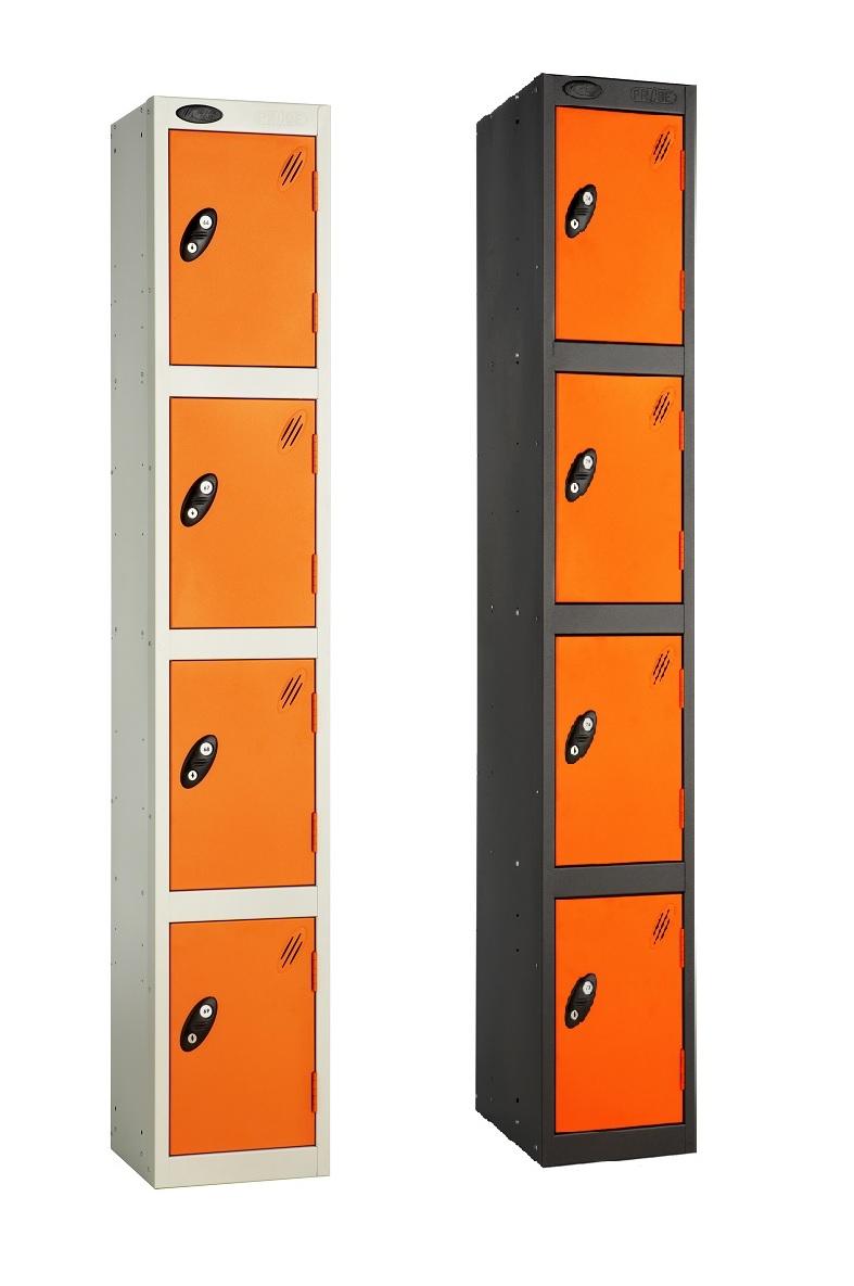 Colour Range Four Compartments Locker