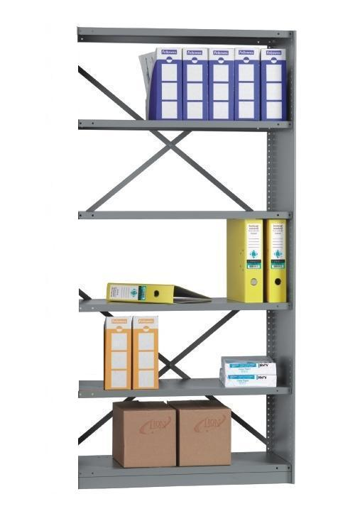 Rolled Edge EXT BAY 6 Shelves 12 inch Depth