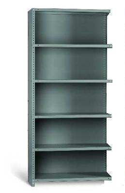 Industrial Angle EXT BAY CLAD 6 Shelves 12 Inch Depth