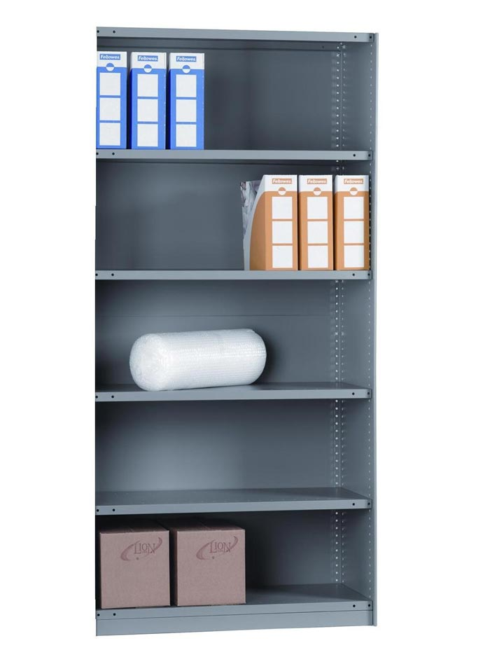 Rolled Edge EXT BAY CLAD 6 Shelves 24 Inch Depth