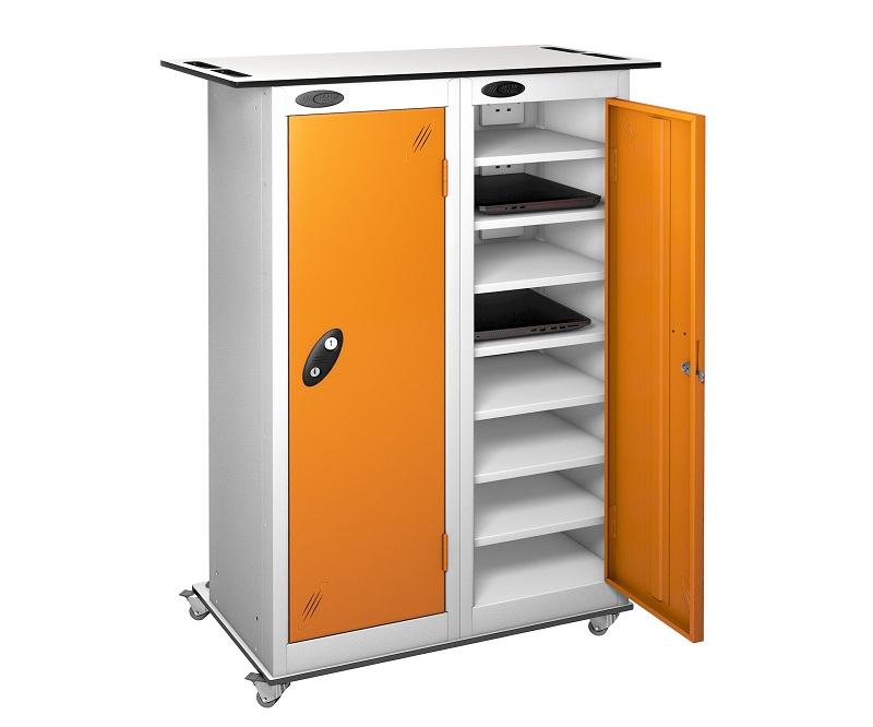 Trolley - Tablet Storage Locker -16 Compartments - 2 doors (Non Charging)