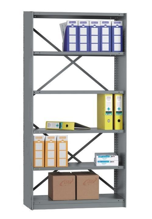 Rolled Edge STARTER BAY 6 Shelves 24 Inch Depth