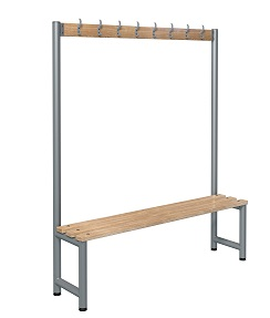 Bench 1500mm Single Side-Integrated 8 Hook  - Type D