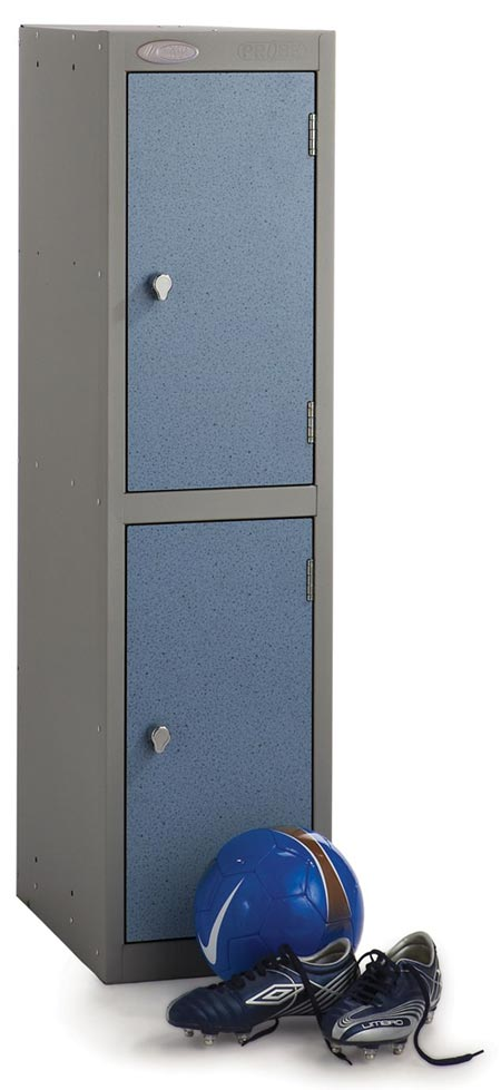 Low Level 2 Comp Shockproof Lockers -  Inset Door