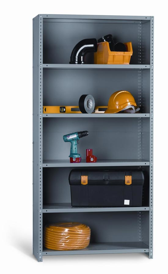 Industrial Angle STARTER BAY CLAD 6 Shelves 24 inch Depth