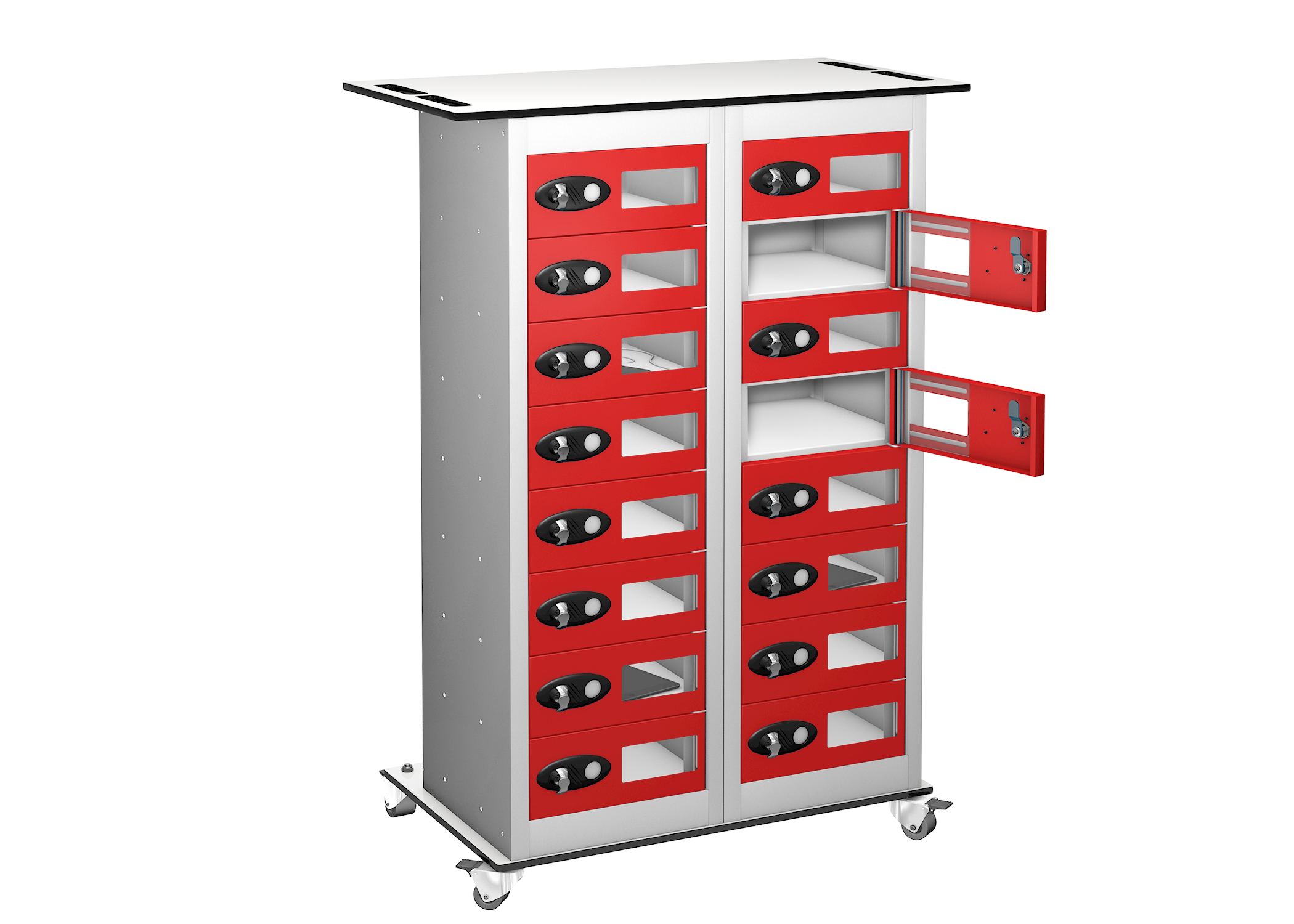 Trolley - VISION PANEL Tablet Storage Locker -16 Compartments - 16 doors (Charging)