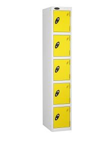 Colour Range Five Compartments Locker