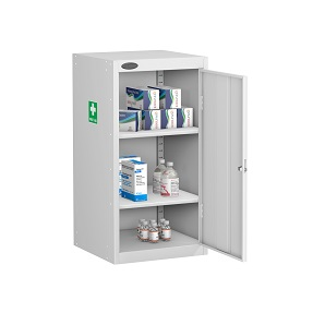 Small Medical Cabinet 2 Shelves