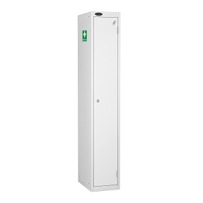 Personal Single Medical Locker with Fixed Top Shelf