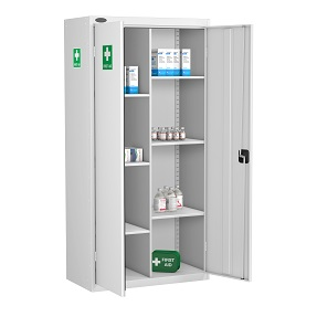 8 Compartment Medical Cabinet 6 Shelves