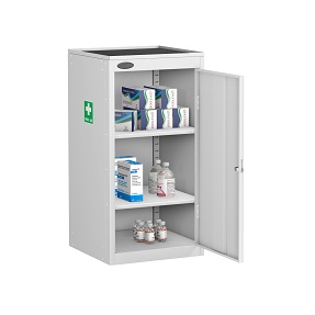 Small Medical Cabinet Dish Top 2 Shelves