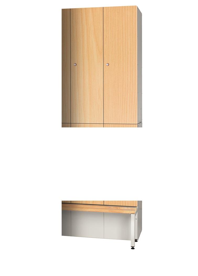 Golf Locker - Top Locker Timber Effect Laminate Doors