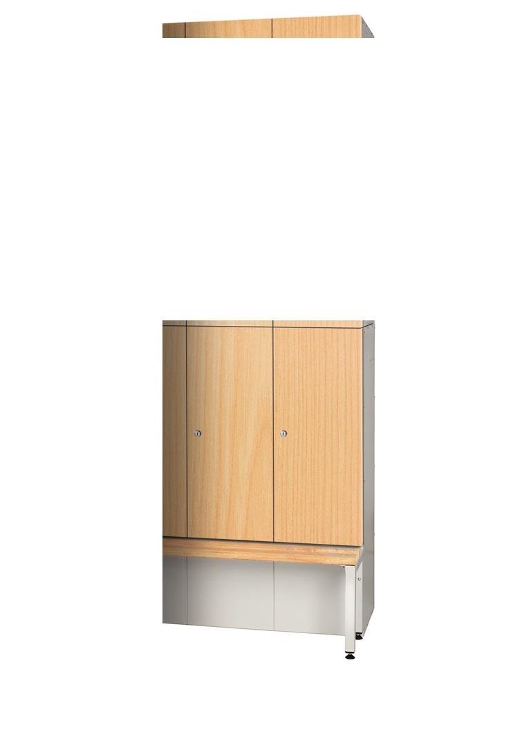 Golf Locker - Bottom Locker Timber Effect Laminate Doors