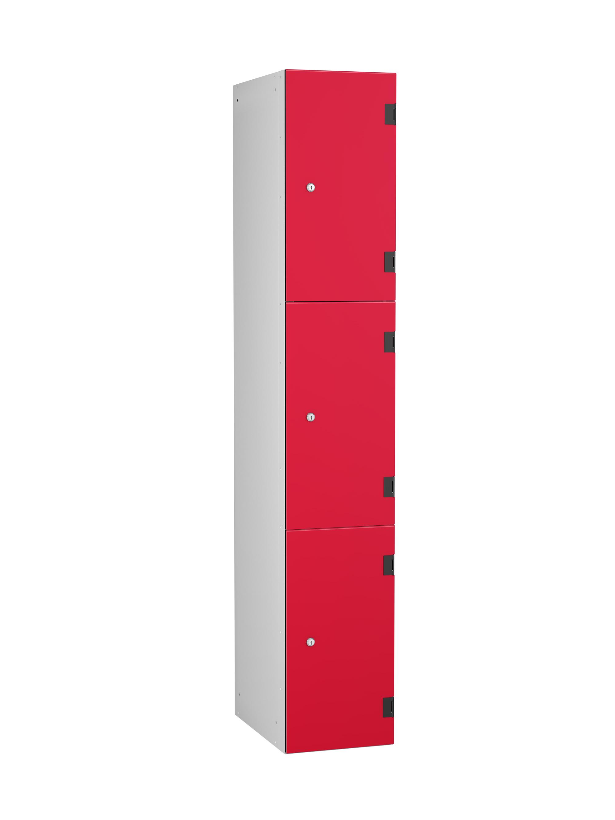3 Compartments Shockproof Lockers - Overlay Door
