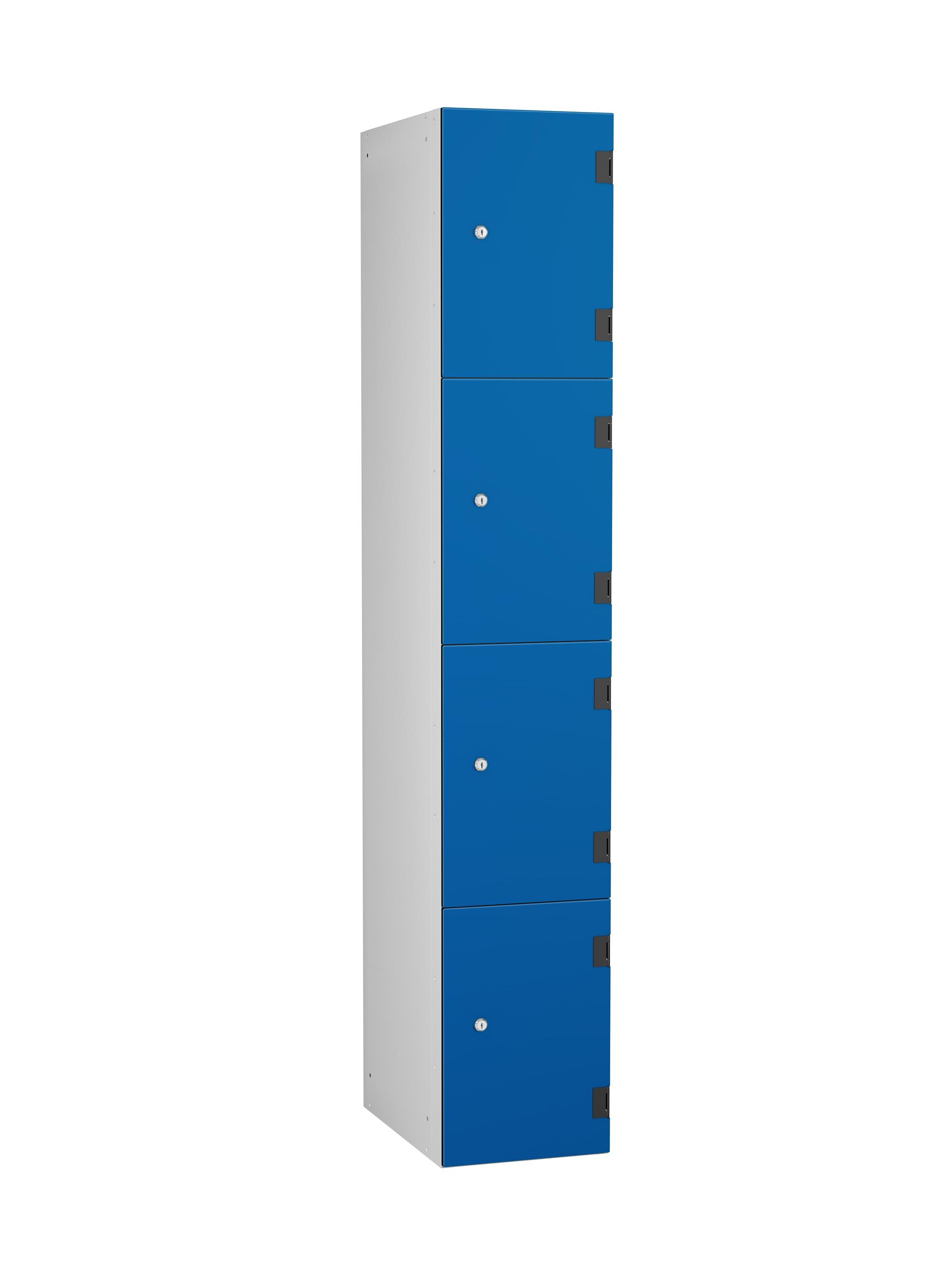 4 Compartments Shockproof Lockers - Overlay Door