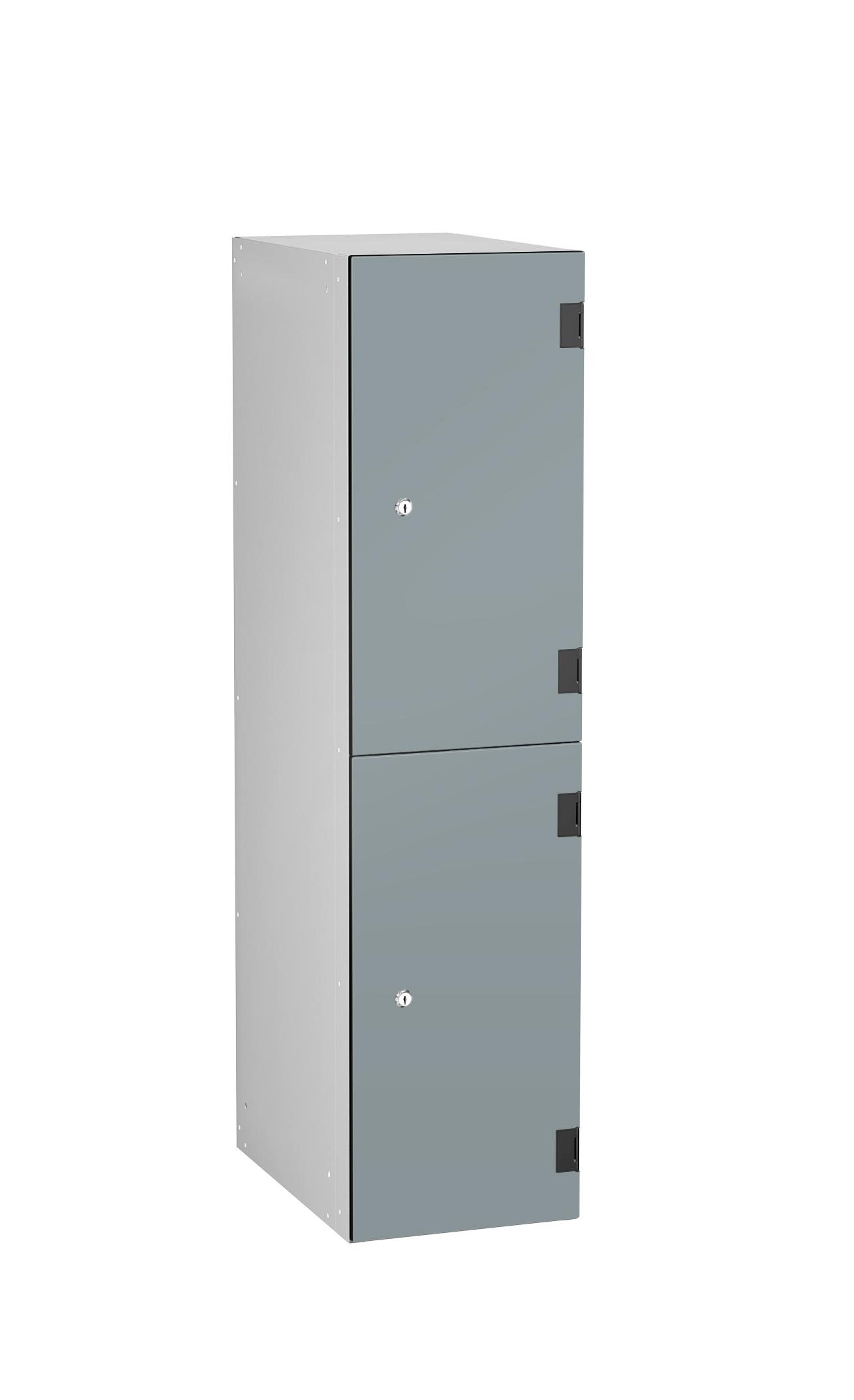 Low Level 2 Comp Shockproof Lockers - Overlay Door