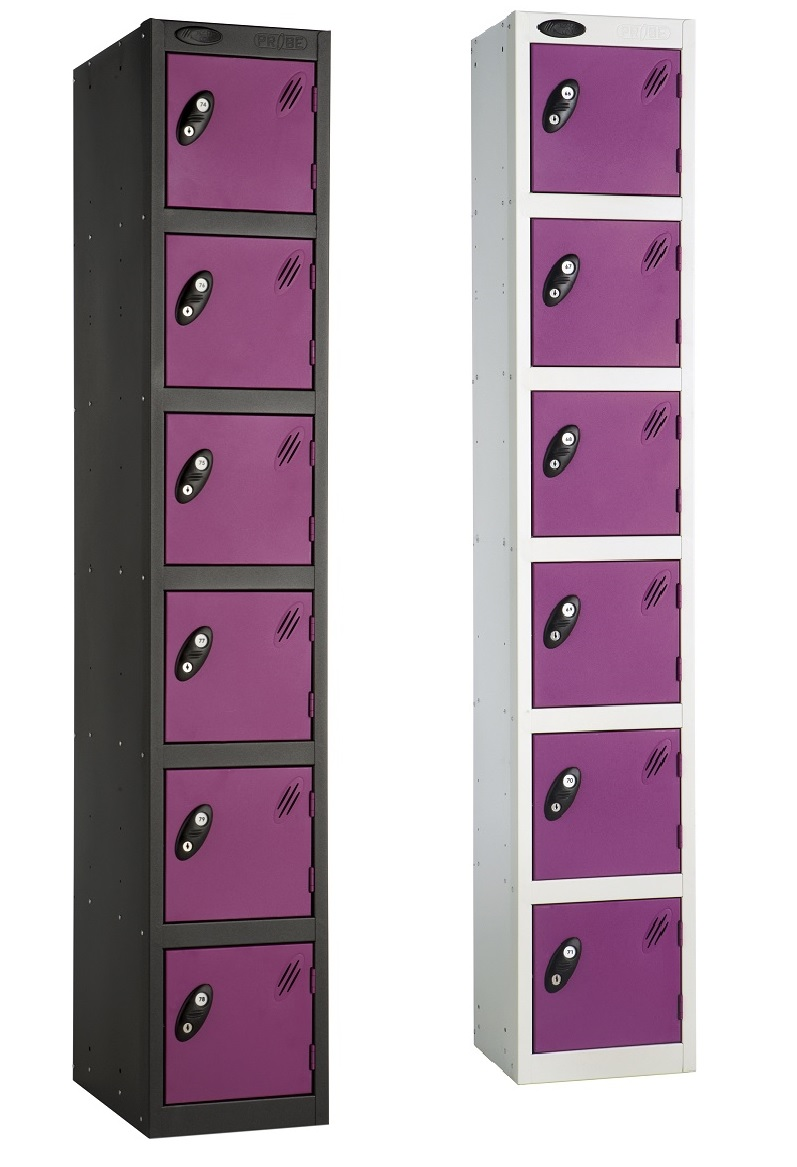 Colour Range Six Compartments Locker
