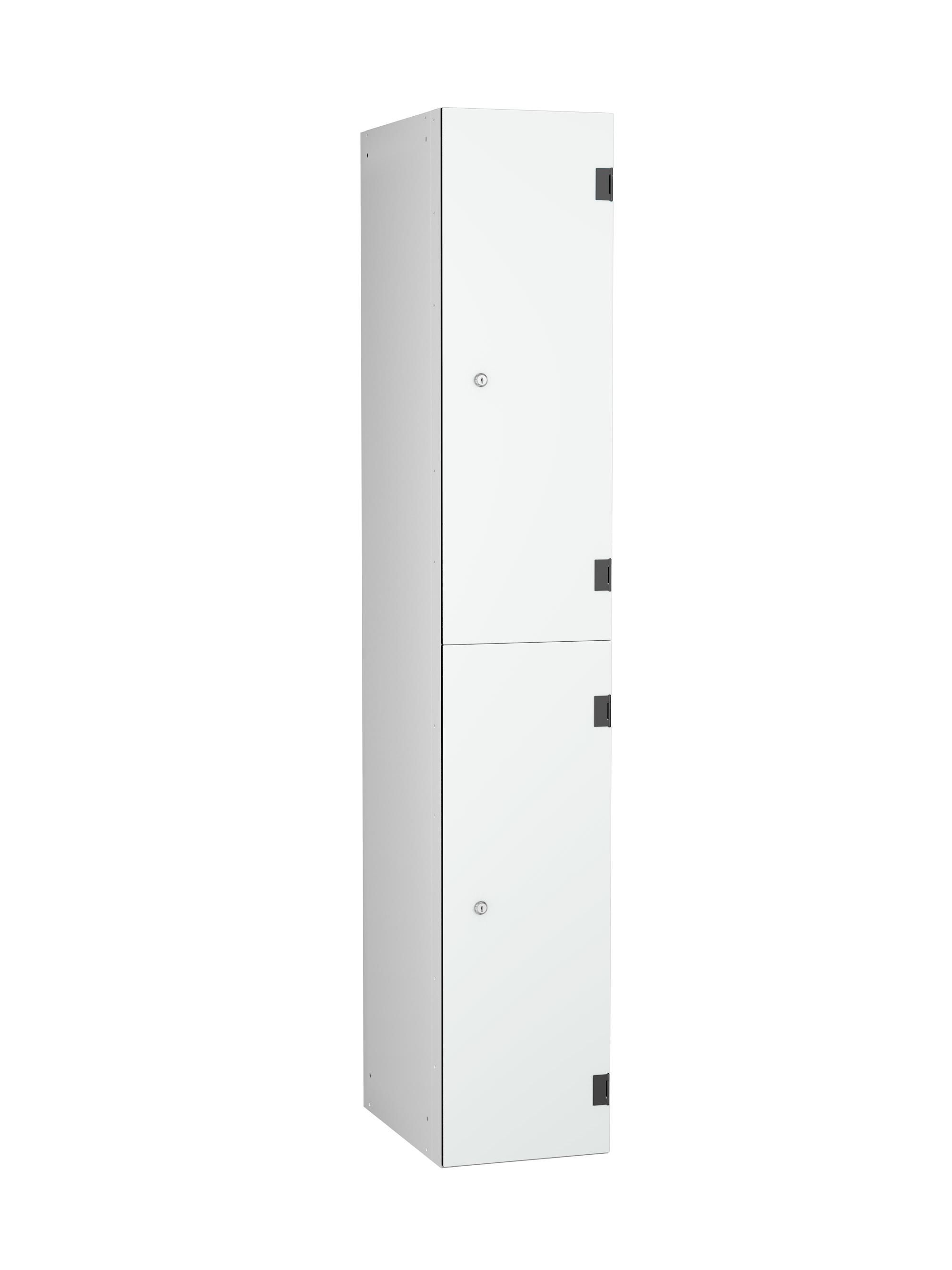 2 Compartments Shockproof Lockers - Overlay Door