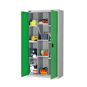 12 Compartment Cupboard with 9 Shelves