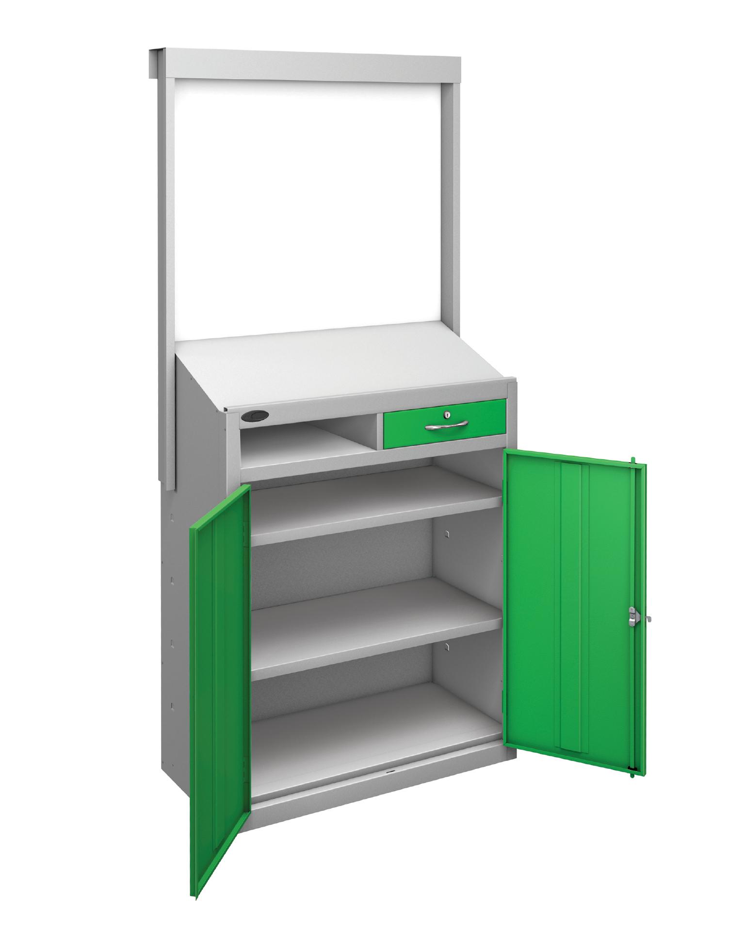 Workstation & Whiteboard - No Draws