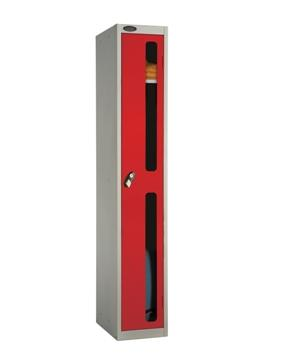 One Compartment Vision Panel Security Locker